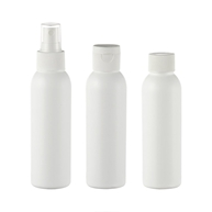 120ml (4oz) natural colored LDPE/HDPE boston round plastic bottle JF-102
