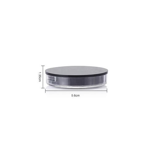 size of 15ml black round cosmetic jar GFA-555 5*1.3cm