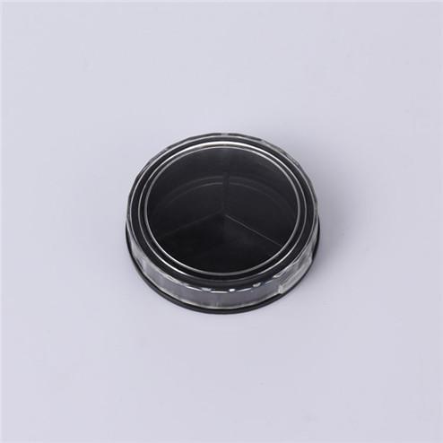 manufacturing 15ml black round cosmetic jar GFA-555