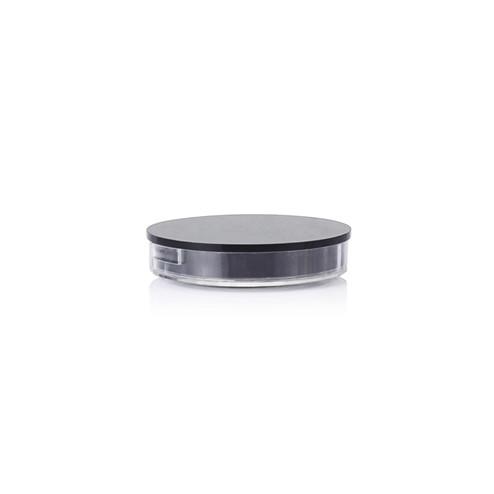 15ml black round cosmetic jar GFA-555