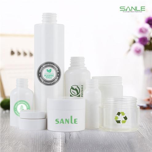 eco-friendly plastic bottle and jar