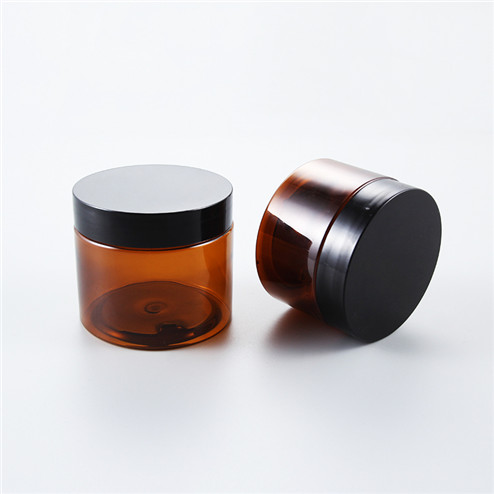 120ml Amber Custom plastic pet jar