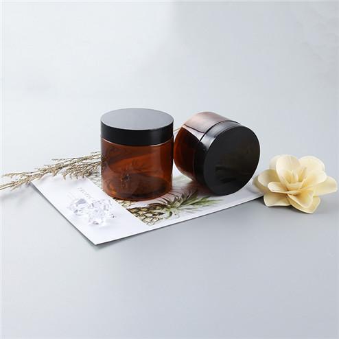 120ml amber jar with black cap