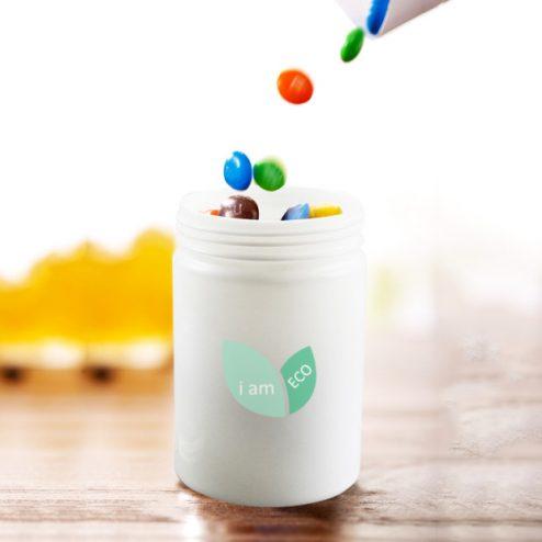 Pla compostable & biodegradable bottle xylitol gum container