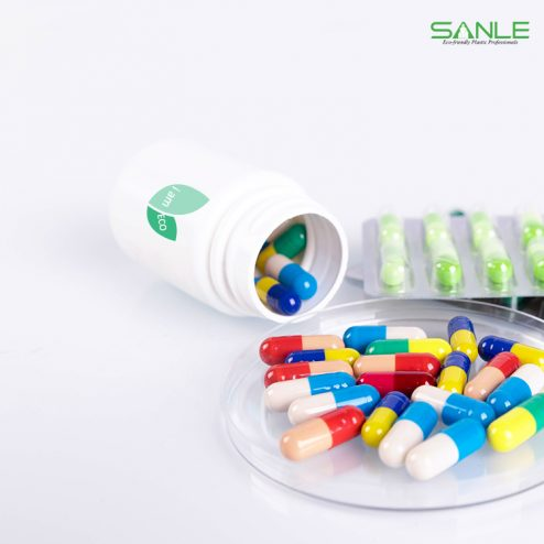Pla compostable & biodegradable medicine capsule bottle pill container medical packaging