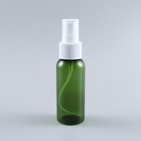 2oz green Transparent PET plastic spray bottle hand sanitizer sprayer container