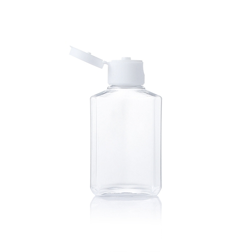Portable disinfectant bottle with snap cap