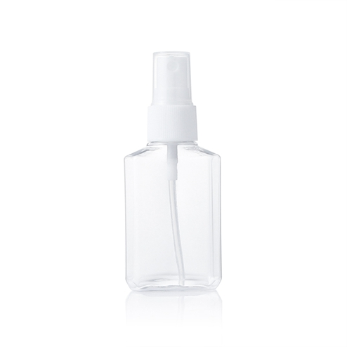 clear bottle with mist sprayer