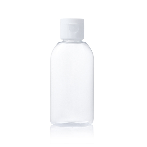 60ml round clear bottle with snap cap