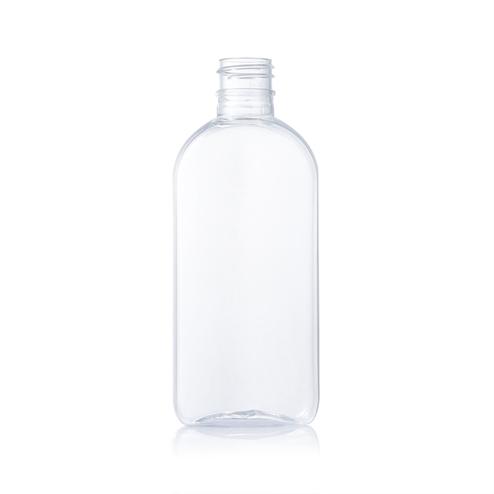 100ml clear flat pet bottle