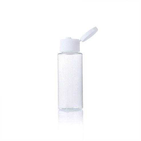 60ml clear bottle with white snap cap