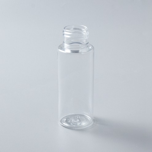 60ml Cylinder clear PET Plastic Bottle