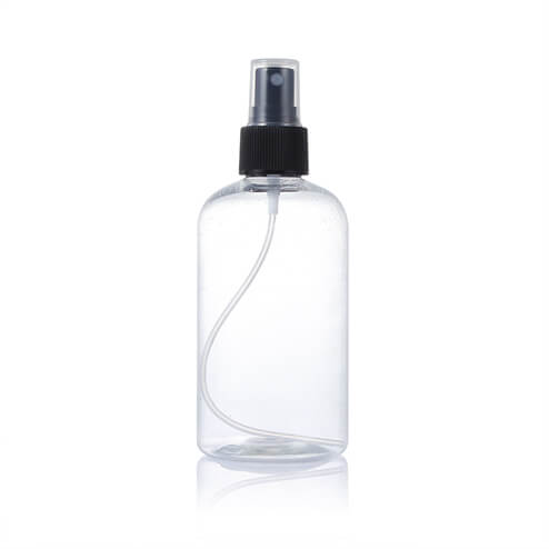 250ml saniziter bottle with balck sprayer