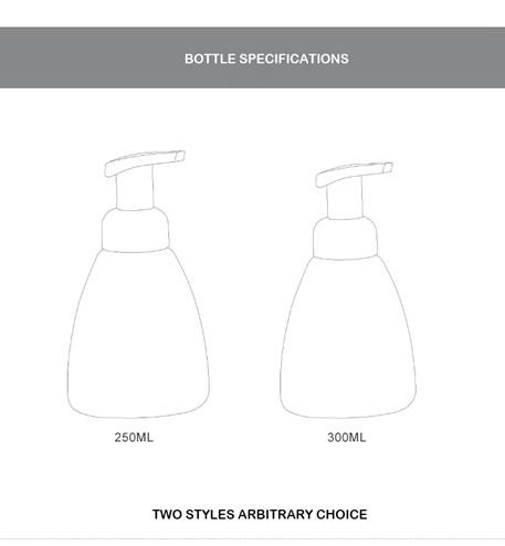 250ml foam pump bottle and 300ml foam pump bottle