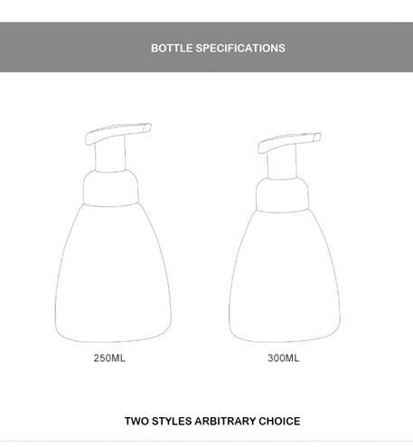 250ml foam pump bottle and 300ml foam pump bottle for your choose
