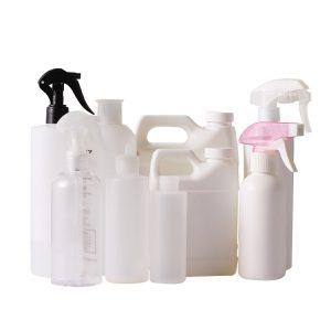 plastic spray bottles for disinfectant and hand sanitizer